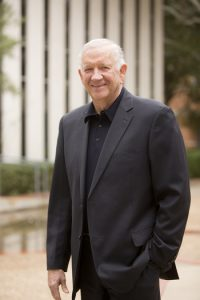 Dr Robert B. Sloan, president of Houston Baptist University, portrait, about President Robert Sloan